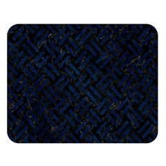 Woven2 Black Marble & Blue Grunge Double Sided Flano Blanket (large) by trendistuff
