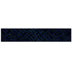 Woven2 Black Marble & Blue Grunge Flano Scarf (large)