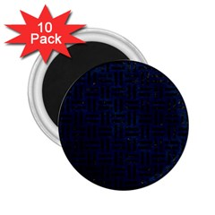 Woven1 Black Marble & Blue Grunge (r) 2 25  Magnet (10 Pack) by trendistuff