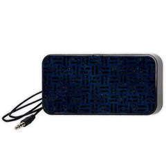 Woven1 Black Marble & Blue Grunge (r) Portable Speaker (black) by trendistuff