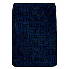 Woven1 Black Marble & Blue Grunge (r) Removable Flap Cover (s) by trendistuff
