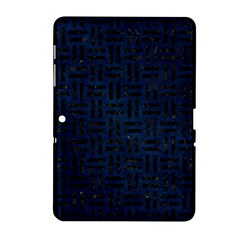 Woven1 Black Marble & Blue Grunge (r) Samsung Galaxy Tab 2 (10 1 ) P5100 Hardshell Case  by trendistuff