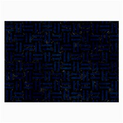Woven1 Black Marble & Blue Grunge Large Glasses Cloth (2 Sides) by trendistuff