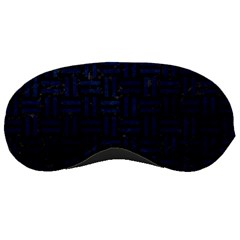Woven1 Black Marble & Blue Grunge Sleeping Mask by trendistuff