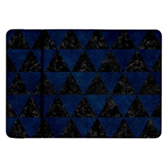 Triangle3 Black Marble & Blue Grunge Samsung Galaxy Tab 8 9  P7300 Flip Case by trendistuff