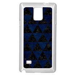 Triangle3 Black Marble & Blue Grunge Samsung Galaxy Note 4 Case (white) by trendistuff