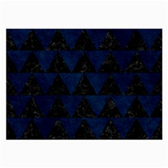 Triangle2 Black Marble & Blue Grunge Large Glasses Cloth by trendistuff