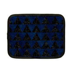 Triangle2 Black Marble & Blue Grunge Netbook Case (small) by trendistuff