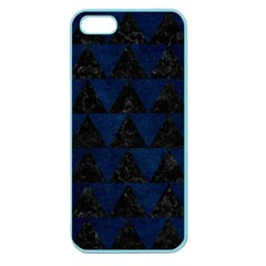 Triangle2 Black Marble & Blue Grunge Apple Seamless Iphone 5 Case (color) by trendistuff