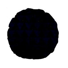 Triangle2 Black Marble & Blue Grunge Standard 15  Premium Flano Round Cushion  by trendistuff