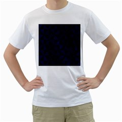 Triangle1 Black Marble & Blue Grunge Men s T Shirt (white) (two Sided) by trendistuff