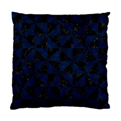 Triangle1 Black Marble & Blue Grunge Standard Cushion Case (one Side) by trendistuff
