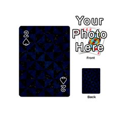 Triangle1 Black Marble & Blue Grunge Playing Cards 54 (mini) by trendistuff