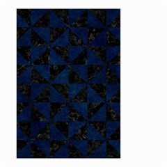 Triangle1 Black Marble & Blue Grunge Small Garden Flag (two Sides) by trendistuff