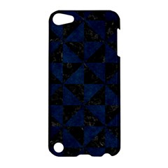 Triangle1 Black Marble & Blue Grunge Apple Ipod Touch 5 Hardshell Case by trendistuff