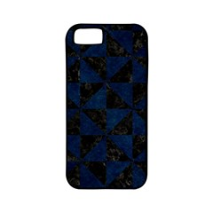 Triangle1 Black Marble & Blue Grunge Apple Iphone 5 Classic Hardshell Case (pc+silicone) by trendistuff