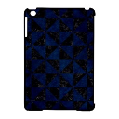 Triangle1 Black Marble & Blue Grunge Apple Ipad Mini Hardshell Case (compatible With Smart Cover) by trendistuff