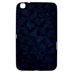 Triangle1 Black Marble & Blue Grunge Samsung Galaxy Tab 3 (8 ) T3100 Hardshell Case  by trendistuff