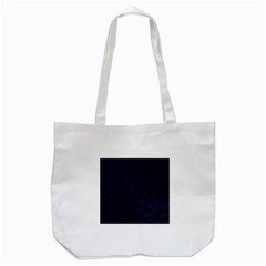 Triangle1 Black Marble & Blue Grunge Tote Bag (white) by trendistuff