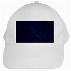 Tile1 Black Marble & Blue Grunge (r) White Cap by trendistuff