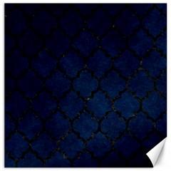 Tile1 Black Marble & Blue Grunge (r) Canvas 20  X 20  by trendistuff