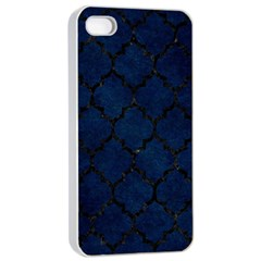Tile1 Black Marble & Blue Grunge (r) Apple Iphone 4/4s Seamless Case (white) by trendistuff