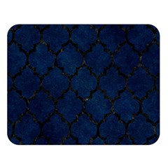 Tile1 Black Marble & Blue Grunge (r) Double Sided Flano Blanket (large) by trendistuff