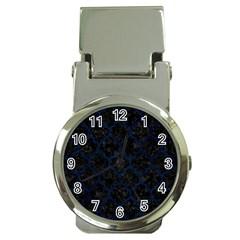 Tile1 Black Marble & Blue Grunge Money Clip Watch by trendistuff