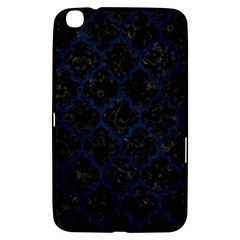 Tile1 Black Marble & Blue Grunge Samsung Galaxy Tab 3 (8 ) T3100 Hardshell Case  by trendistuff