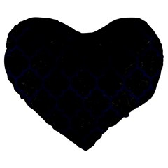 Tile1 Black Marble & Blue Grunge Large 19  Premium Flano Heart Shape Cushion by trendistuff
