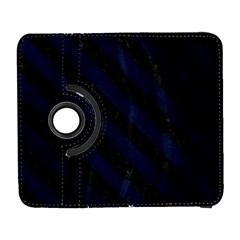 Stripes3 Black Marble & Blue Grunge (r) Samsung Galaxy S  Iii Flip 360 Case by trendistuff