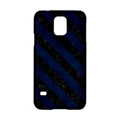 Stripes3 Black Marble & Blue Grunge (r) Samsung Galaxy S5 Hardshell Case  by trendistuff