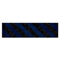 Stripes3 Black Marble & Blue Grunge (r) Satin Scarf (oblong) by trendistuff
