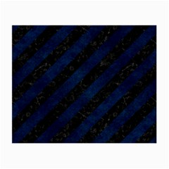 Stripes3 Black Marble & Blue Grunge Small Glasses Cloth by trendistuff