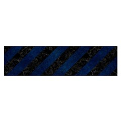 Stripes3 Black Marble & Blue Grunge Satin Scarf (oblong) by trendistuff