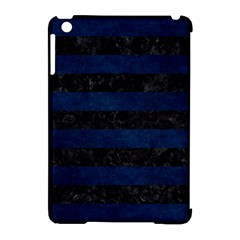 Stripes2 Black Marble & Blue Grunge Apple Ipad Mini Hardshell Case (compatible With Smart Cover) by trendistuff