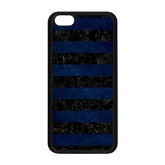 Stripes2 Black Marble & Blue Grunge Apple Iphone 5c Seamless Case (black) by trendistuff
