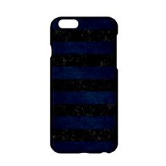 Stripes2 Black Marble & Blue Grunge Apple Iphone 6/6s Hardshell Case by trendistuff
