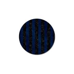Stripes1 Black Marble & Blue Grunge Golf Ball Marker (10 Pack) by trendistuff