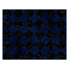 Square2 Black Marble & Blue Grunge Jigsaw Puzzle (rectangular) by trendistuff