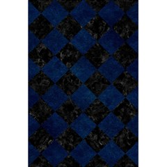 Square2 Black Marble & Blue Grunge 5 5  X 8 5  Notebook by trendistuff