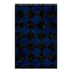 Square2 Black Marble & Blue Grunge Shower Curtain 48  X 72  (small) by trendistuff
