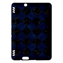 Square2 Black Marble & Blue Grunge Kindle Fire Hdx Hardshell Case by trendistuff