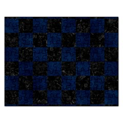 Square1 Black Marble & Blue Grunge Jigsaw Puzzle (rectangular) by trendistuff