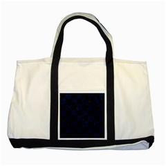 Square1 Black Marble & Blue Grunge Two Tone Tote Bag by trendistuff
