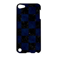 Square1 Black Marble & Blue Grunge Apple Ipod Touch 5 Hardshell Case by trendistuff