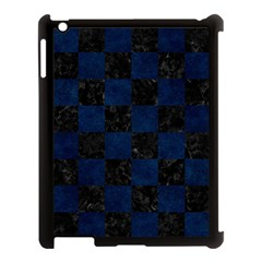 Square1 Black Marble & Blue Grunge Apple Ipad 3/4 Case (black) by trendistuff