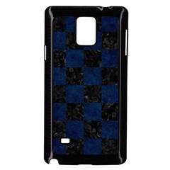 Square1 Black Marble & Blue Grunge Samsung Galaxy Note 4 Case (black) by trendistuff