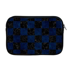 Square1 Black Marble & Blue Grunge Apple Macbook Pro 17  Zipper Case by trendistuff