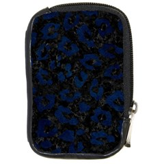 Skin5 Black Marble & Blue Grunge (r) Compact Camera Leather Case by trendistuff